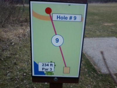 H.A. Meyer Park, Main course, Hole 9 Tee pad