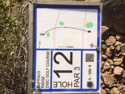 Buffalo Ridge Park, Main course, Hole 12 Hole sign