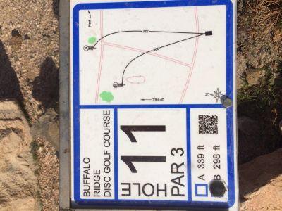 Buffalo Ridge Park, Main course, Hole 11 Hole sign