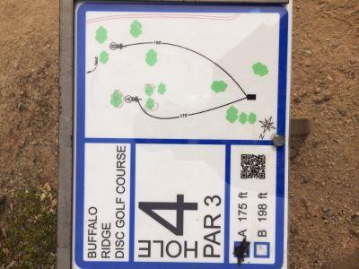 Buffalo Ridge Park, Main course, Hole 4 Hole sign