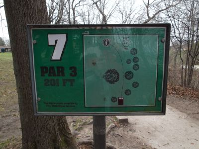 Vollrath Park, Main course, Hole 7 Hole sign