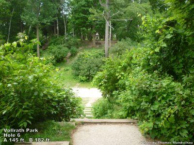 Vollrath Park, Main course, Hole 6 Tee pad