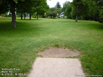 Vollrath Park, Main course, Hole 16 Tee pad