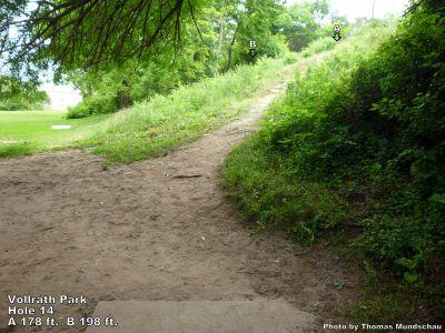 Vollrath Park, Main course, Hole 14 Tee pad