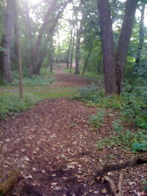 Fox River Park, Main course, Hole 9 Long tee pad