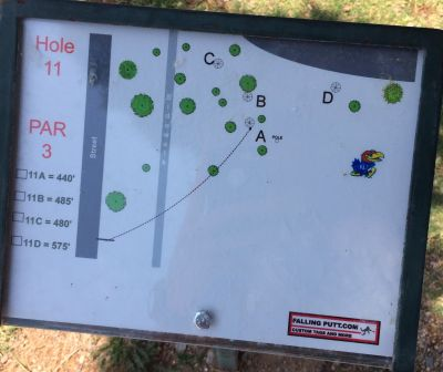 Conocido Park, Main course, Hole 11 Hole sign