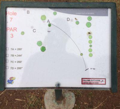 Conocido Park, Main course, Hole 7 Hole sign