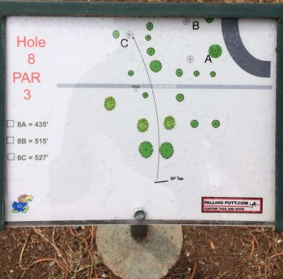 Conocido Park, Main course, Hole 8 Hole sign