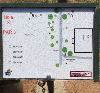 Conocido Park, Main course, Hole 3 Hole sign
