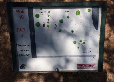 Conocido Park, Main course, Hole 10 Hole sign