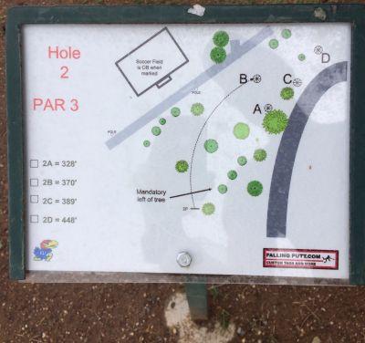 Conocido Park, Main course, Hole 2 Hole sign