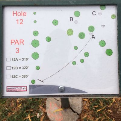 Conocido Park, Main course, Hole 12 Hole sign