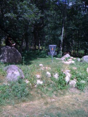 Standing Rocks, Main course, Hole 9 Putt