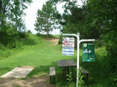 Sugar Camp DGC, Main course, Hole 9 Hole sign