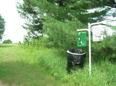Sugar Camp DGC, Main course, Hole 7 Hole sign