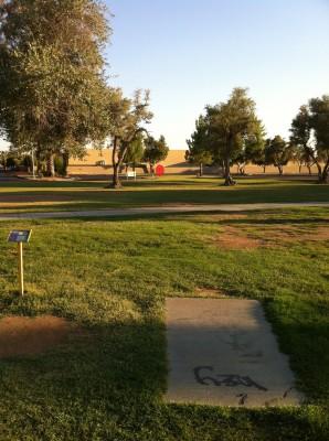 Los Olivos, Main course, Hole 7 Tee pad