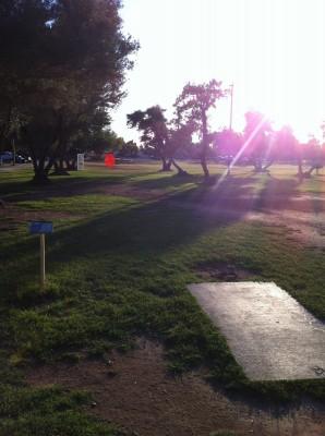 Los Olivos, Main course, Hole 9 Tee pad