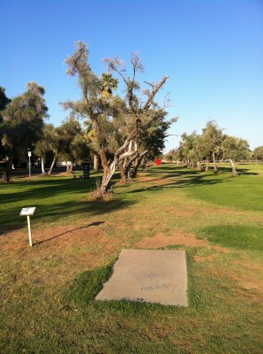 Los Olivos, Main course, Hole 2 Tee pad