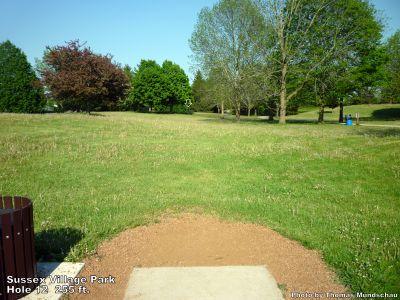 Village Park, Main course, Hole 12 Tee pad
