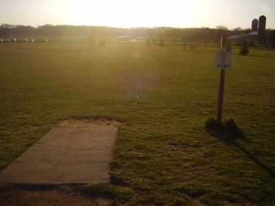 Wales Community Park, Main course, Hole 5 Tee pad