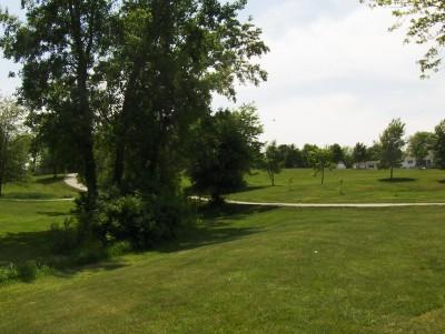 Evans Park, Main course, Hole 7 Tee pad