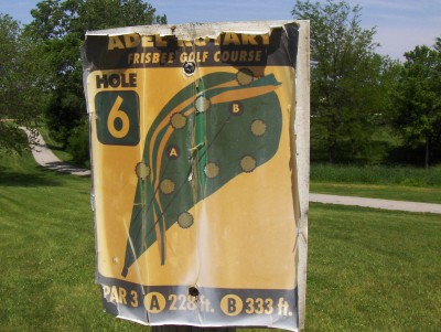 Evans Park, Main course, Hole 6 Hole sign