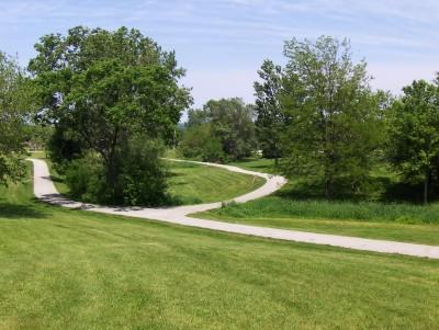 Evans Park, Main course, Hole 6 Tee pad