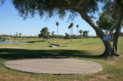 Fountain Hills Park, Main course, Hole 11 Tee pad