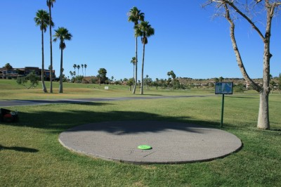 Fountain Hills Park, Main course, Hole 17 Tee pad