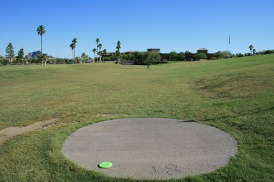 Fountain Hills Park, Main course, Hole 18 Tee pad