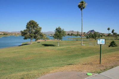 Fountain Hills Park, Main course, Hole 12 Tee pad