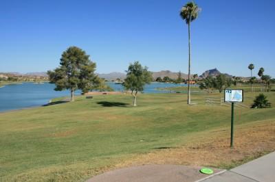 Fountain Hills Park, Main course, Hole 12 Tee pad