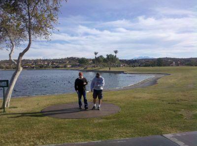Fountain Hills Park, Main course, Hole 1 Short tee pad