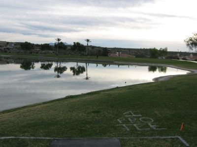 Fountain Hills Park, Main course, Hole 1 Long tee pad