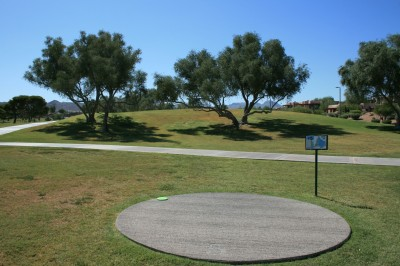 Fountain Hills Park, Main course, Hole 5 Tee pad