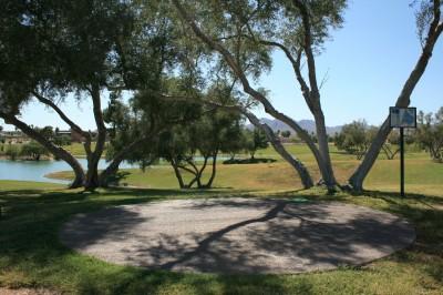 Fountain Hills Park, Main course, Hole 8 Tee pad