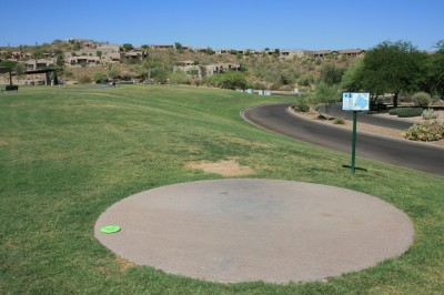 Fountain Hills Park, Main course, Hole 3 Tee pad