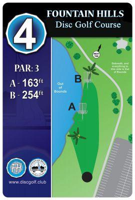 Fountain Hills Park, Main course, Hole 4 Hole sign