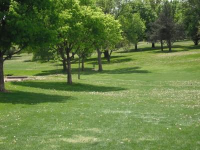 Jones Park, Main course, Hole 1 Tee pad