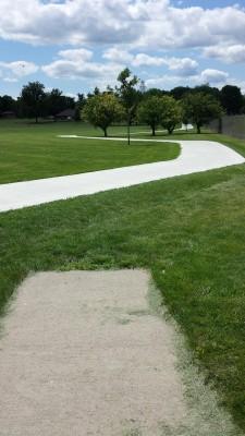 Eagle DGC - Memorial Park, Main course, Hole 6 Tee pad