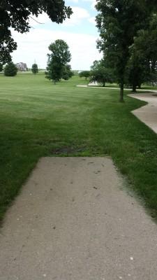 Eagle DGC - Memorial Park, Main course, Hole 3 Tee pad