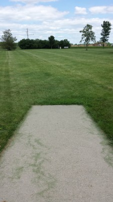 Eagle DGC - Memorial Park, Main course, Hole 5 Tee pad