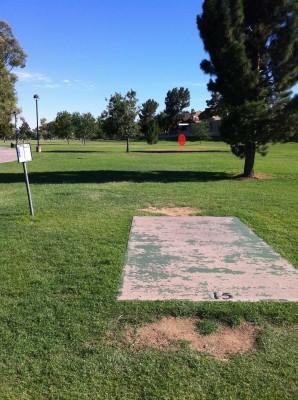 Vista Del Camino Park, Main course, Hole 15 Tee pad