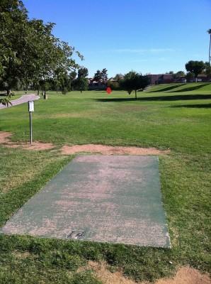 Vista Del Camino Park, Main course, Hole 14 Tee pad