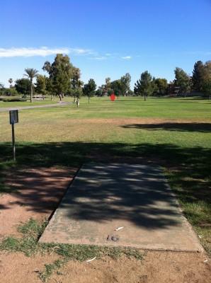 Vista Del Camino Park, Main course, Hole 16 Tee pad