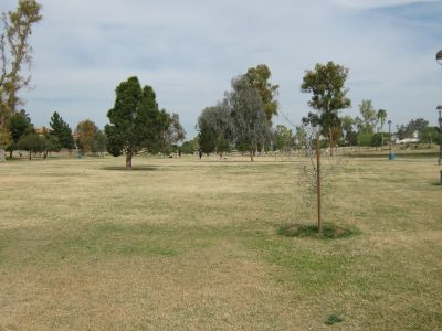 Vista Del Camino Park, Main course, Hole 2 Long tee pad