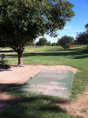 Vista Del Camino Park, Main course, Hole 12 Tee pad