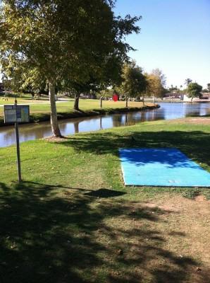 Vista Del Camino Park, Main course, Hole 11 Tee pad