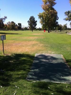 Vista Del Camino Park, Main course, Hole 3 Tee pad
