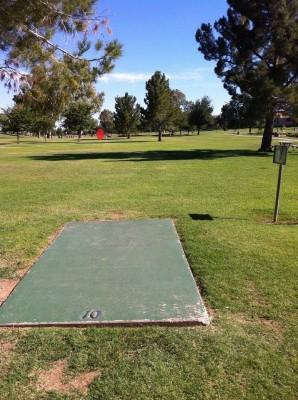 Vista Del Camino Park, Main course, Hole 10 Tee pad